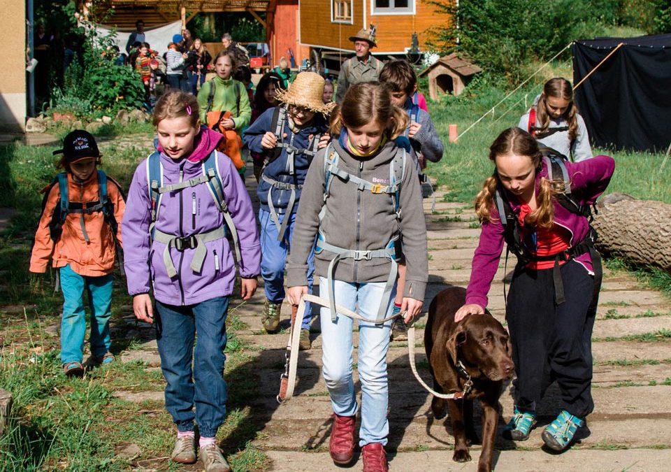 Kinder an der Waldorfschule in Weimar