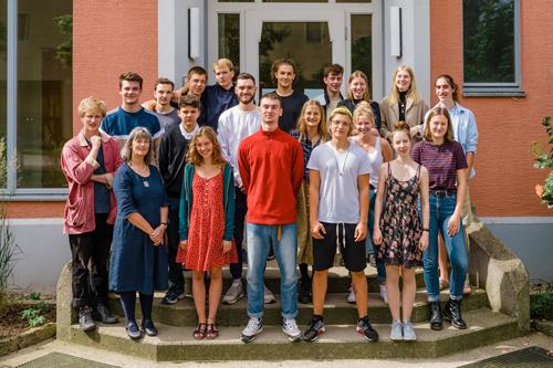 Schüler an der Waldorfschule in Weimar
