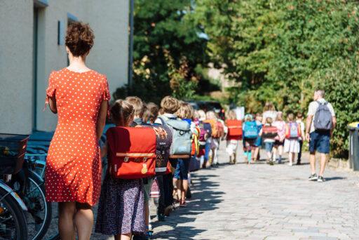 Eingangsklassen an der Waldorfschule in Weimar